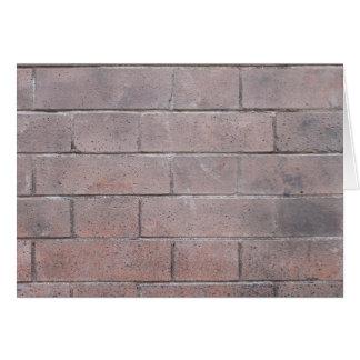 Cartão Parede de tijolo