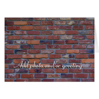 Cartão Parede de tijolo - tijolos e almofariz misturados