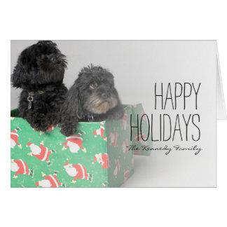 Cartão Pares de filhotes de cachorro adoráveis