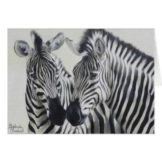Cartão Pares Notecard da zebra