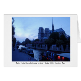 Cartão Paris - Notre Dame no crepúsculo