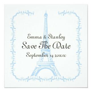 Cartão Paris que wedding economias azuis da torre Eiffel