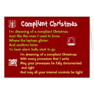 Cartão Paródia de exame engraçada da canção do Natal