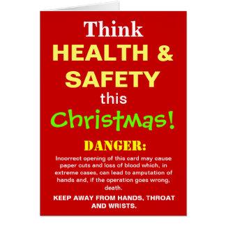Cartão Paródia engraçada da piada do Natal da saúde e da