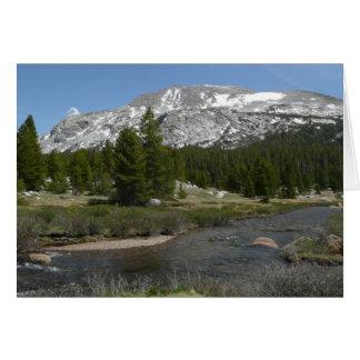 Cartão Parque alto do córrego II Yosemite da montanha do