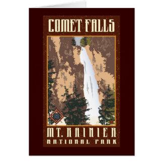 Cartão Parque-Cartão do nacional do Monte Rainier
