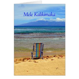 Cartão Parque da praia de Honokowai, Mele Kalikimaka