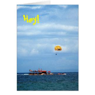 Cartão Parque da praia de Wahikuli do Parasailing, Hey,