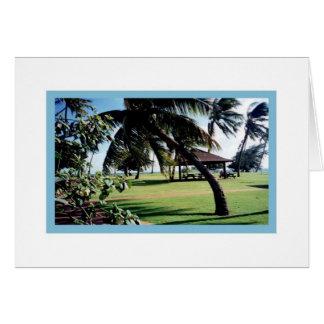 Cartão Parque da praia do Cartão-Poipu, Kauai, Havaí