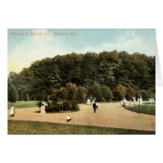 Cartão Parque de Garfield, vintage 1910 de Cleveland Ohio
