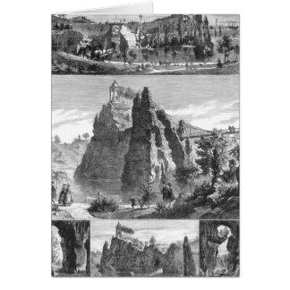 Cartão Parque de Montículo-Chaumont, Paris nova
