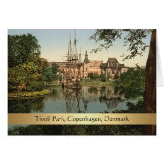 Cartão Parque de Tivoli, Copenhaga, Dinamarca
