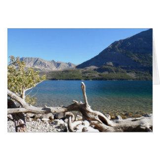 Cartão Parque nacional de geleira do lago st Mary