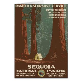 Cartão Parque nacional de sequóia