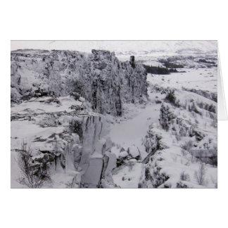 Cartão Parque nacional de Thingvellir