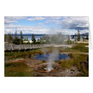 Cartão Parque nacional de Yellowstone