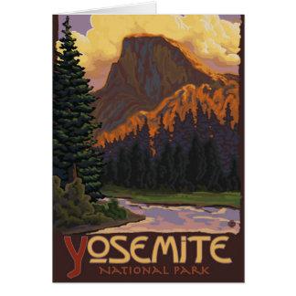 Cartão Parque nacional de Yosemite - meia abóbada -