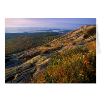 Cartão Parque nacional do Acadia da montanha do cadillac