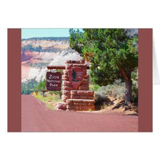 Cartão Parque nacional EUA de Zion