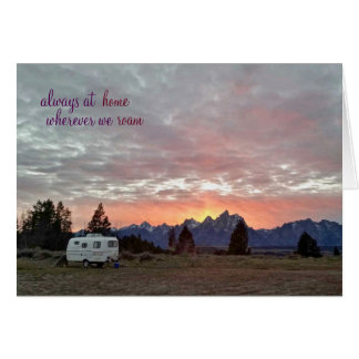 Cartão Parque nacional grande de Teton