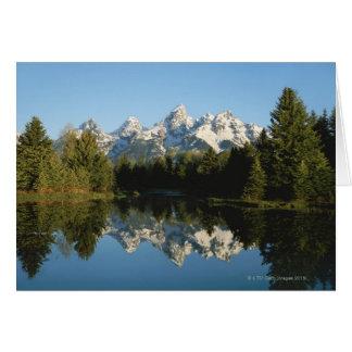 Cartão Parque nacional grande de Teton, escala de Teton,