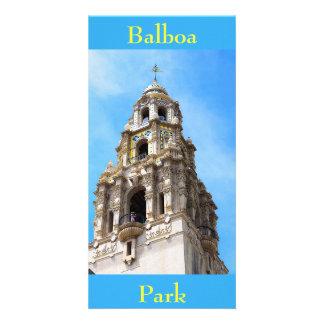 Cartão Parque San Diego Califórnia do balboa da torre de
