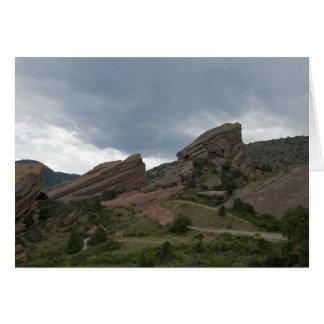 Cartão Parque vermelho Colorado das rochas