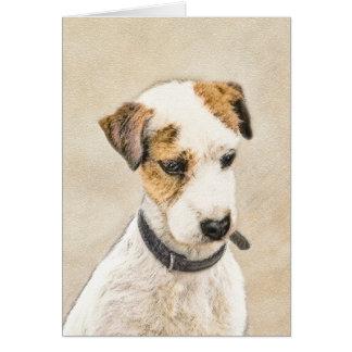 Cartão Parson Jack Russell Terrier que pinta uma arte de