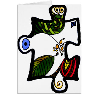 Cartão Parte 01 do quebra-cabeça de serra de vaivém