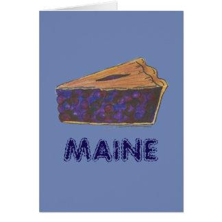 Cartão Parte da fatia da torta de mirtilo de Maine que