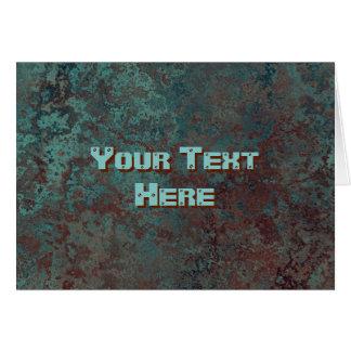 """Cartão Parte dianteira """"de cobre"""" do texto do impressão"""