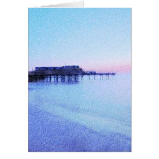Cartão Parte dianteira de mar de Aberystwyth
