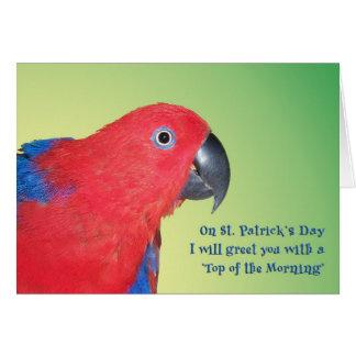 Cartão Parte superior da manhã