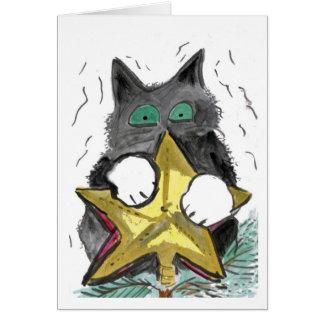 Cartão Parte superior do gatinho… da árvore