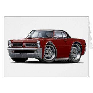 Cartão Parte superior Marrom-Preta de 1965 GTO