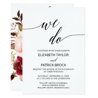 Cartão Parte traseira floral elegante da caligrafia |