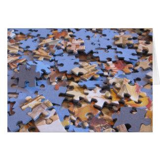 Cartão Partes do quebra-cabeça