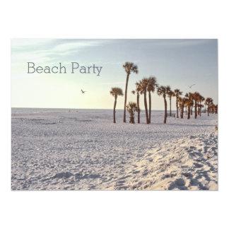 Cartão Partido 1969 retro da praia do oceano da areia de