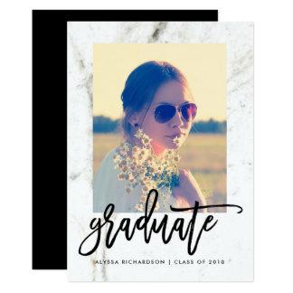 Cartão Partido 2018 elegante do formando da foto do