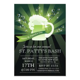 Cartão Partido anual da festança do dia de St Patrick