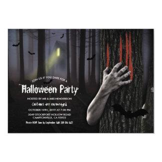 Cartão Partido assustador assombrado do Dia das Bruxas da