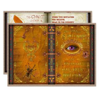 Cartão Partido assustador do livro do período mágico das