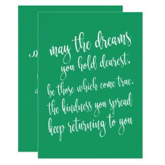 Cartão Partido bonito do Dia de São Patrício do verde