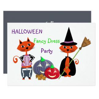 Cartão Partido bonito editável do divertimento do vestido