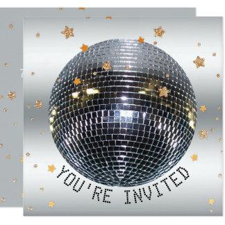 Cartão Partido da bola do disco da dança da festa de