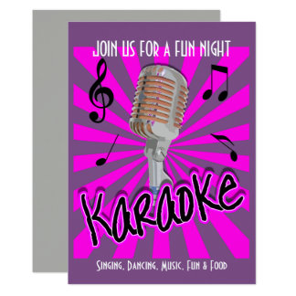 Cartão Partido da celebração do karaoke do tema da música
