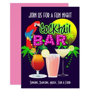 Cartão Partido da celebração do partido de cocktail
