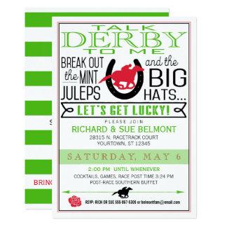 Cartão Partido da corrida de cavalos de Kentucky Derby