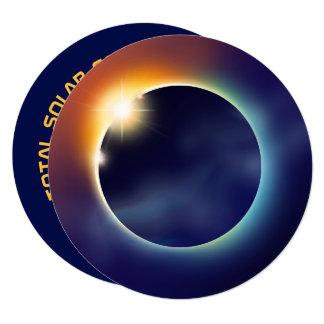 Cartão Partido da estrela da astronomia do eclipse solar