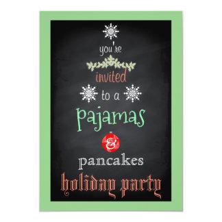 Cartão Partido da família dos pijamas & das panquecas do